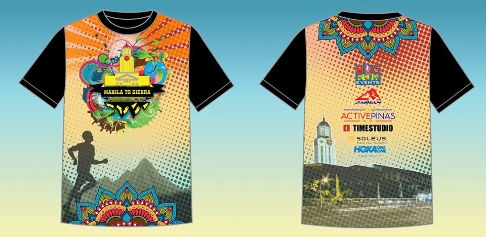 Manila to Sierra 2018 Full Sublimated Event Shirt