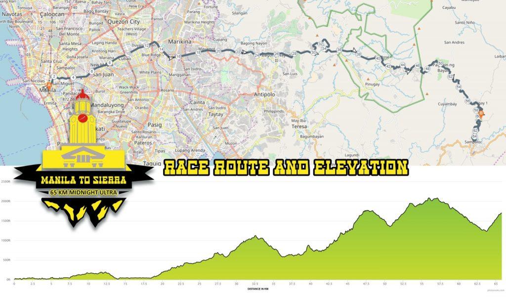 Manila To Sierra 2018 Race Route